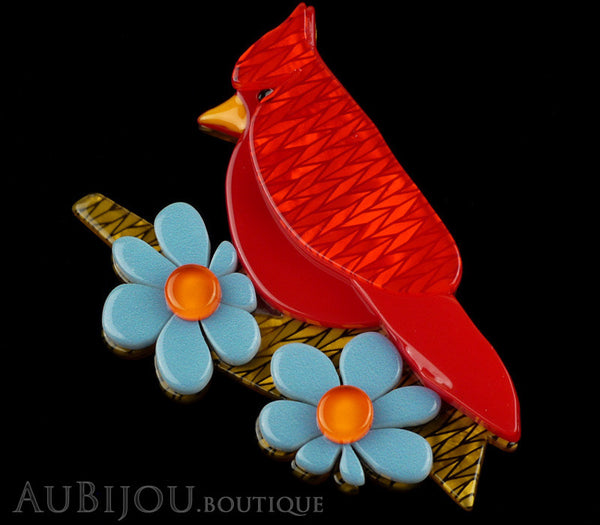 Erstwilder Bird Brooch Pin Ruby the Red Cardinal Multicolor Gallery