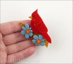 Erstwilder Bird Brooch Pin Ruby the Red Cardinal Multicolor Model