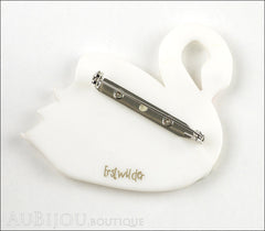 Erstwilder Bird Brooch Pin Sabine the Swan Multicolor Back