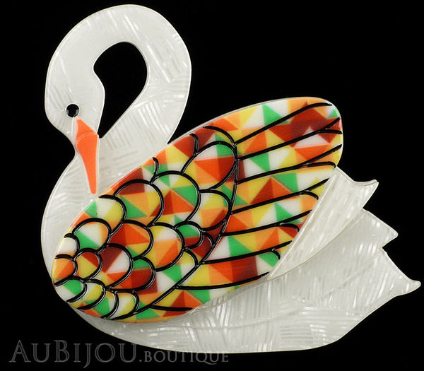 Erstwilder Bird Brooch Pin Sabine the Swan Multicolor Gallery
