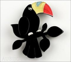 Erstwilder Bird Brooch Pin Talulah Toucan Black Front