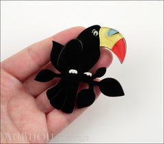 Erstwilder Bird Brooch Pin Talulah Toucan Black Model