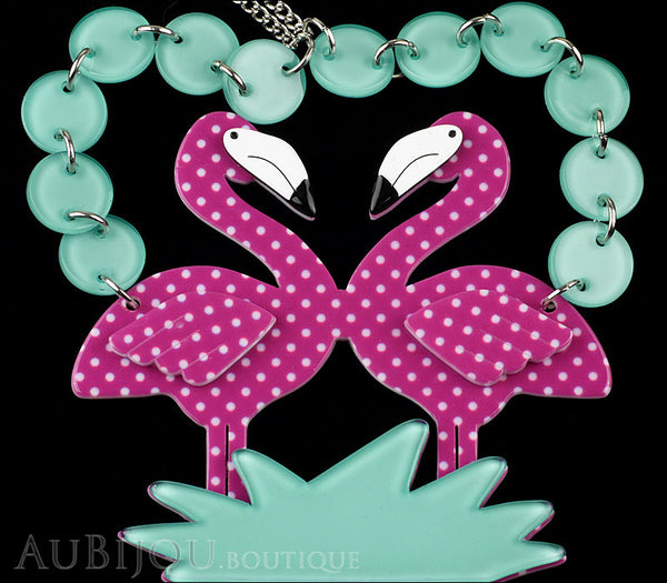 Erstwilder Bird Necklace Flamboyant Flamingo Funk Purple Polka Dot Gallery