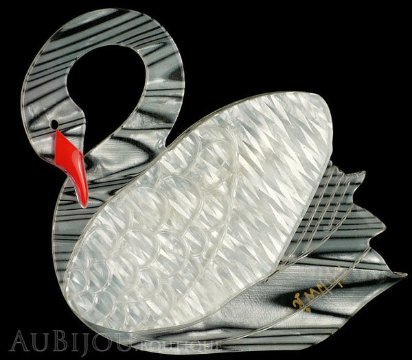 Erstwilder Bird Brooch Pin Sabine the Swan White Gallery