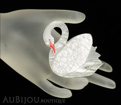 Erstwilder Bird Brooch Pin Sabine the Swan White Mannequin