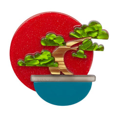 Erstwilder Breathtaking Bonsai Tree Brooch Pin Front