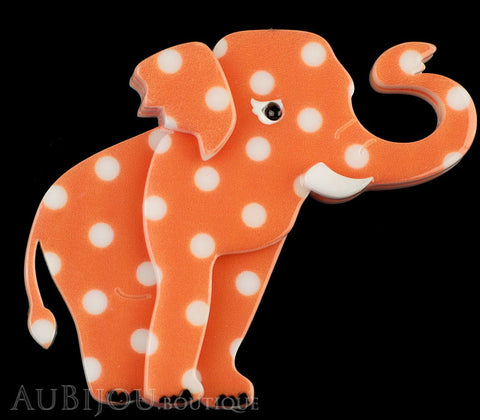 Erstwilder Brooch Pin Alice the Elephant Orange White Polka Dot Gallery