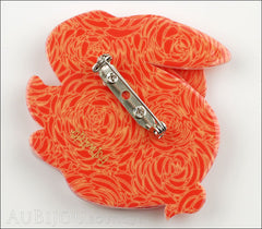 Erstwilder Brooch Pin Bebe The Bunny Orange Back