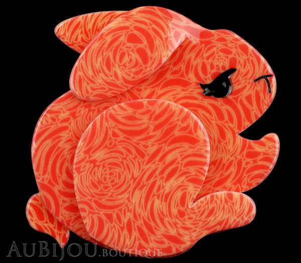 Erstwilder Brooch Pin Bebe The Bunny Orange Gallery