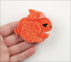 Erstwilder Brooch Pin Bebe The Bunny Orange Model