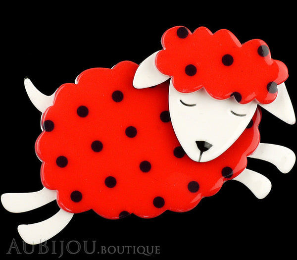 Erstwilder Brooch Pin Bellamy the Black Sheep Red Gallery