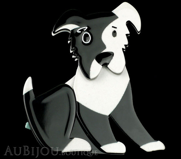 Erstwilder Brooch Pin Coby Collie Dog Black White Gallery