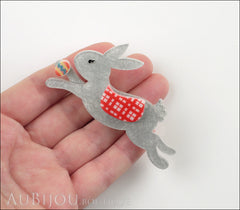 Erstwilder Brooch Pin Cotton Tailed Courier Easter Bunny Rabbit Model