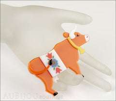 Erstwilder Brooch Pin Daisy Cow Orange Mannequin