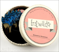 Erstwilder Brooch Pin Egbert the Echidna Blue Box
