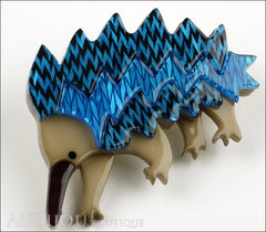 Erstwilder Brooch Pin Egbert the Echidna Blue Side