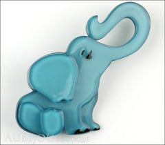Erstwilder Brooch Pin Eli the Elephant Blue Front