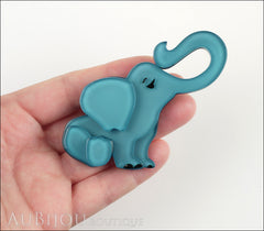 Erstwilder Brooch Pin Eli the Elephant Blue Model