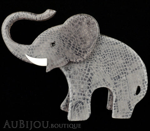 Erstwilder Brooch Pin Elizaveta The Elephant Grey Gallery