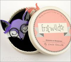 Erstwilder Brooch Pin Emry The Asleep Fox Purple Box
