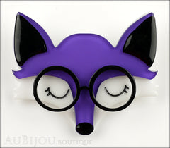 Erstwilder Brooch Pin Emry The Asleep Fox Purple Front