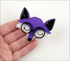 Erstwilder Brooch Pin Emry The Asleep Fox Purple Model