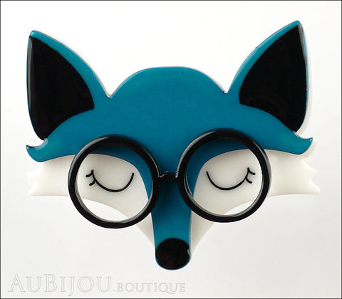 Erstwilder Brooch Pin Emry The Asleep Fox Turquoise Gallery