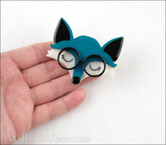 Erstwilder Brooch Pin Emry The Asleep Fox Turquoise Model