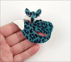 Erstwilder Brooch Pin Faustine Fox Turquoise Model