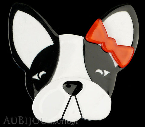 Erstwilder Brooch Pin Felicia French Bulldog Dog White Black Gallery