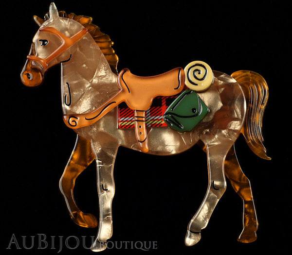 Erstwilder Brooch Pin Giddy Up Horse Peach Amber Gallery