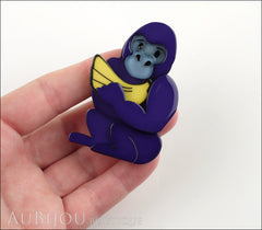 Erstwilder Brooch Pin Giggles The Gorilla Purple Model