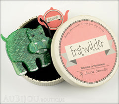 Erstwilder Brooch Pin Hilda Hippo Green Box
