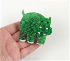 Erstwilder Brooch Pin Hilda Hippo Green Model