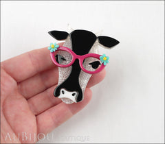 Erstwilder Brooch Pin Hippy Hilda Heifer Cow Model