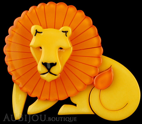 Erstwilder Brooch Pin Len Lion Yellow Orange Gallery