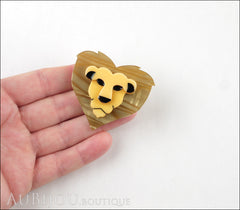 Erstwilder Brooch Pin Lionheart Lion Head Model