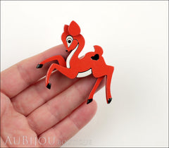 Erstwilder Brooch Pin Little Lockhart Deer Orange Model