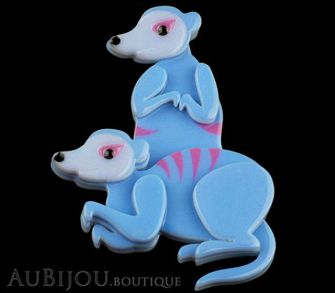 Erstwilder Brooch Pin Mimi And Moses Meerkat Blue Gallery