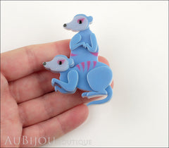 Erstwilder Brooch Pin Mimi And Moses Meerkat Blue Model