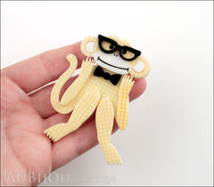 Erstwilder Brooch Pin Moe The Monkey Lover Yellow Model