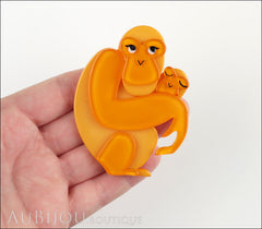 Erstwilder Brooch Pin Olivia's Orangutan Orange Model