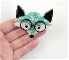 Erstwilder Brooch Pin Oscar Wildenfox Fox Floral Model