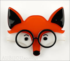 Erstwilder Brooch Pin Oscar Wildenfox Fox Orange Front