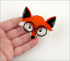 Erstwilder Brooch Pin Oscar Wildenfox Fox Orange Model