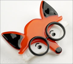 Erstwilder Brooch Pin Oscar Wildenfox Fox Orange Side