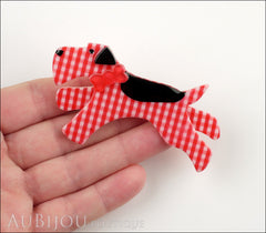 Erstwilder Brooch Pin Scottie Terrier Dog Red Black Model