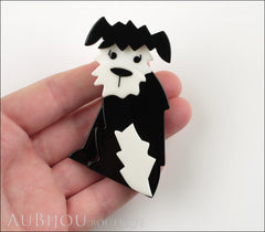 Erstwilder Brooch Pin Scruffy Sinclaire Black White Model