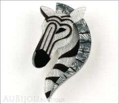 Erstwilder Brooch Pin Zelda The Zany Zebra Front
