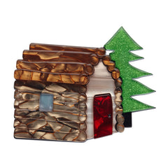 Erstwilder Cabin In The Woods Brooch Pin Front
